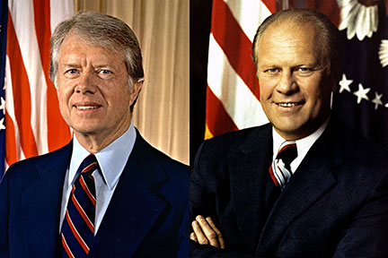 Comparison of presidents ford and carter